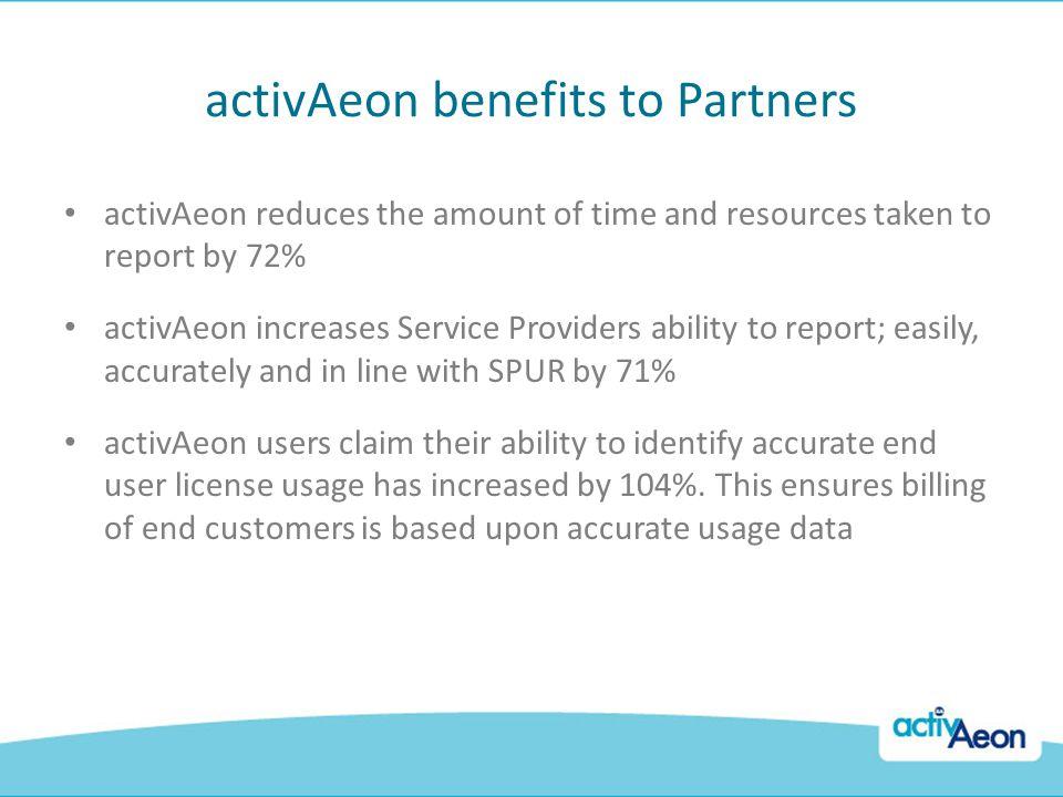 activAeon benefits to Partners