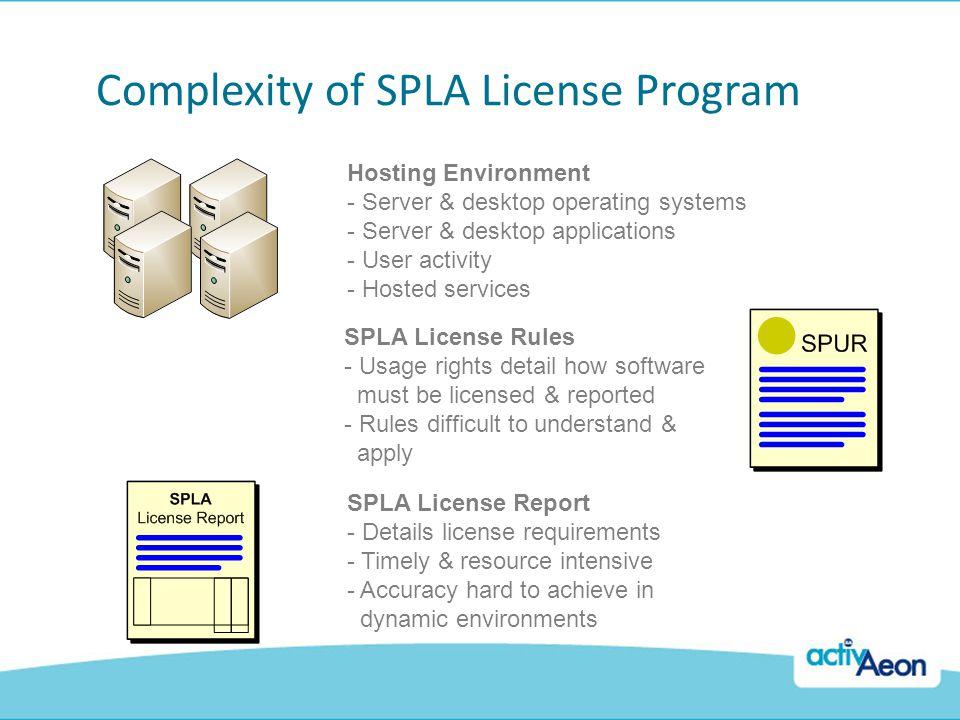 Complexity of SPLA License Program