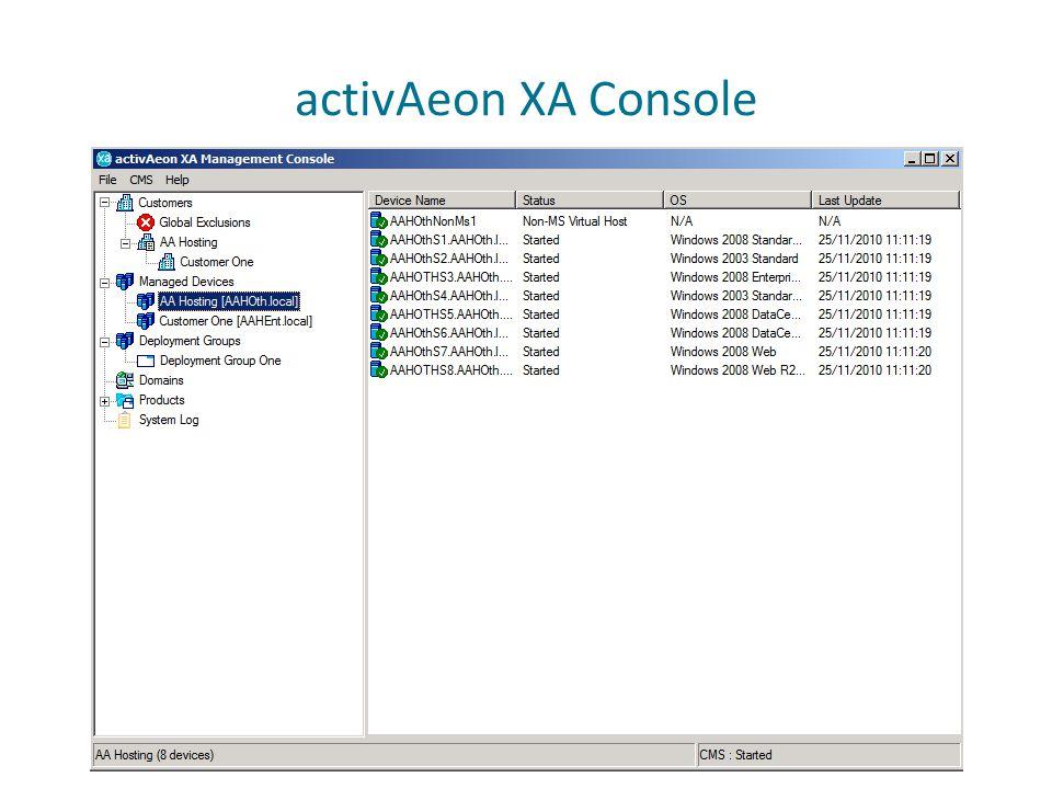 activAeon XA Console