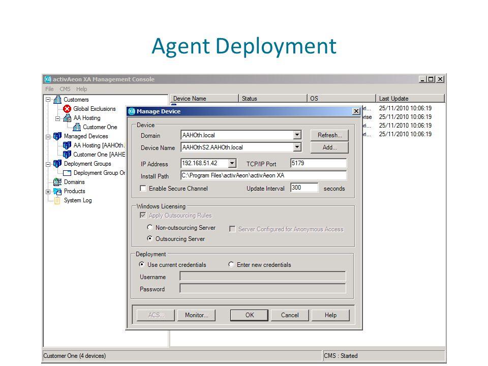 Agent Deployment