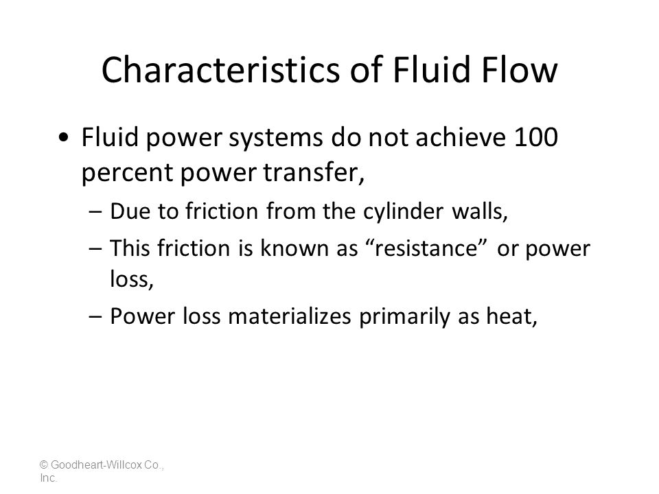 Characteristics of Fluid Flow