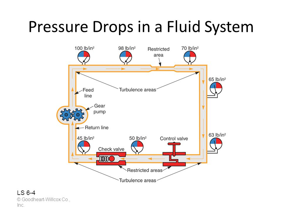 Pressure Drops in a Fluid System