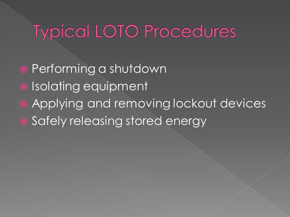 Typical LOTO Procedures