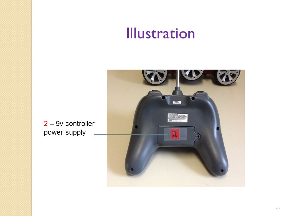 Illustration 2 – 9v controller power supply