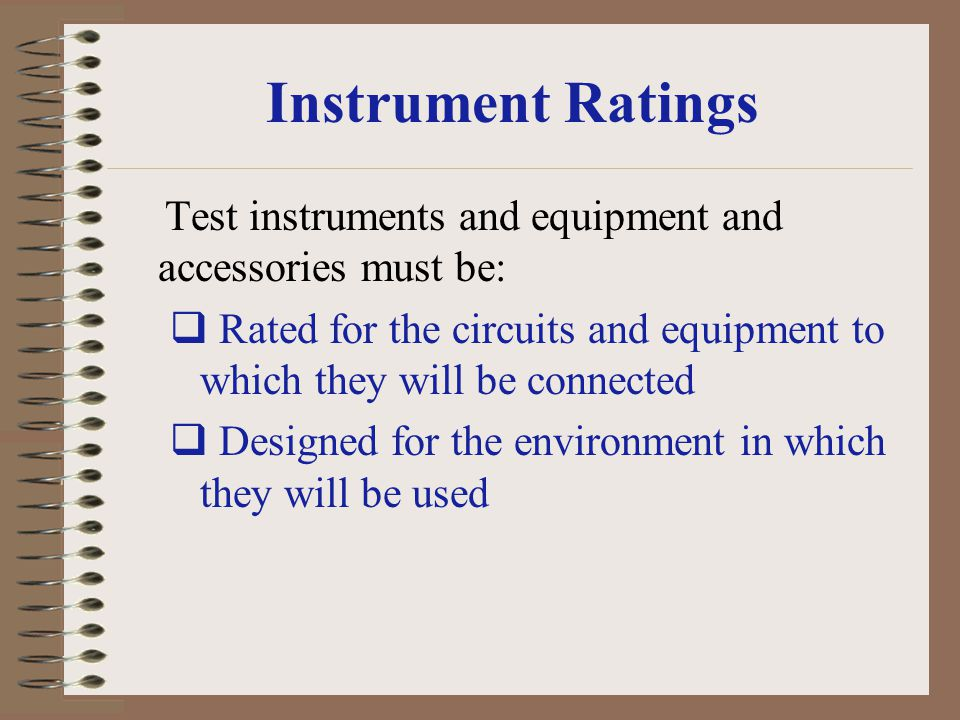 Instrument Ratings
