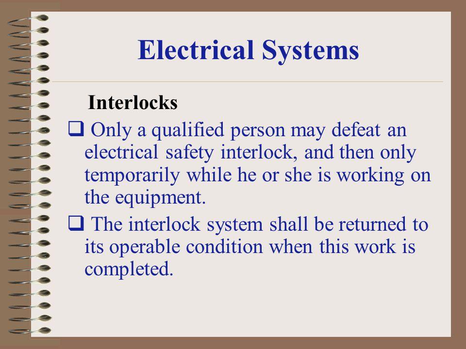 Electrical Systems Interlocks