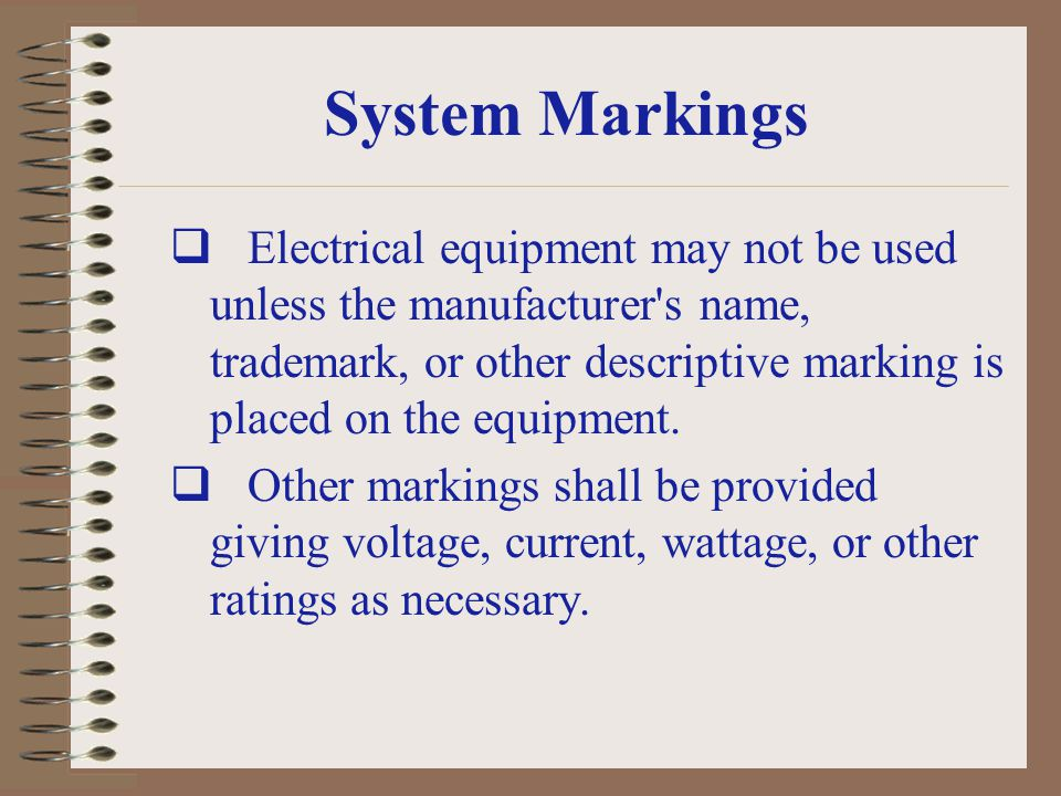 System Markings