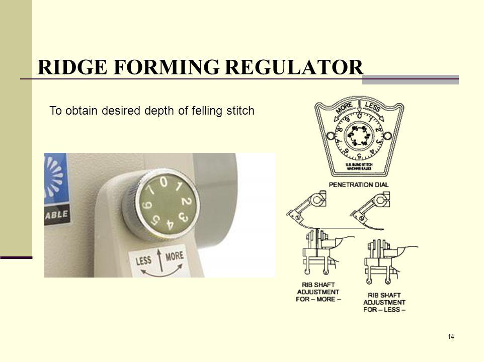 RIDGE FORMING REGULATOR