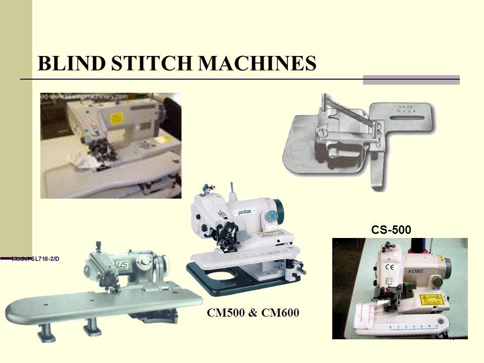 BLIND STITCH MACHINES CS-500 CM500 & CM600