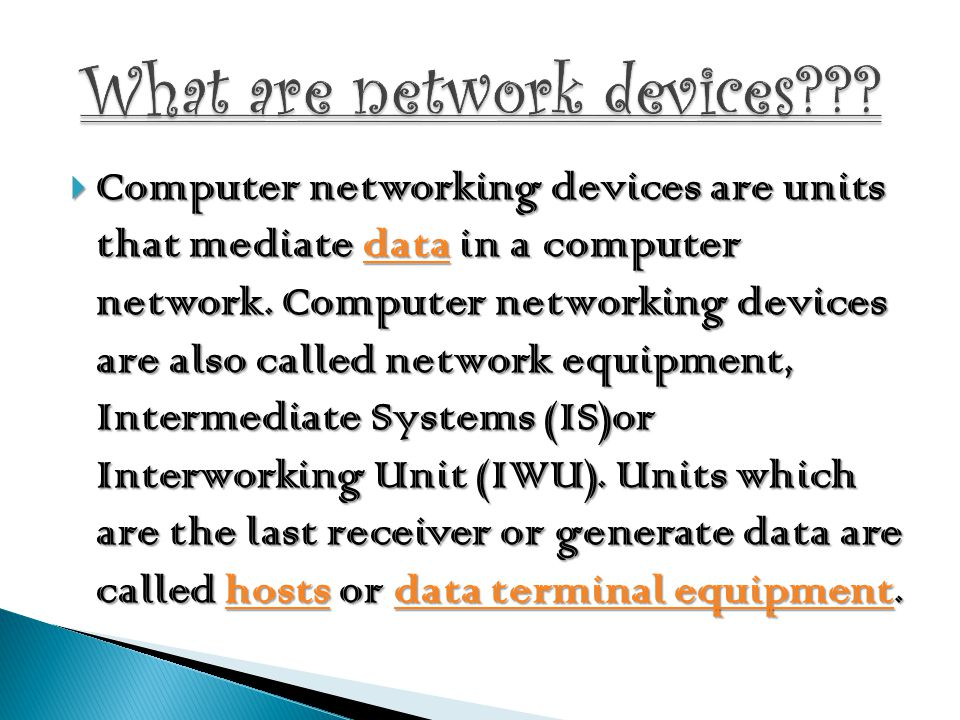 What are network devices
