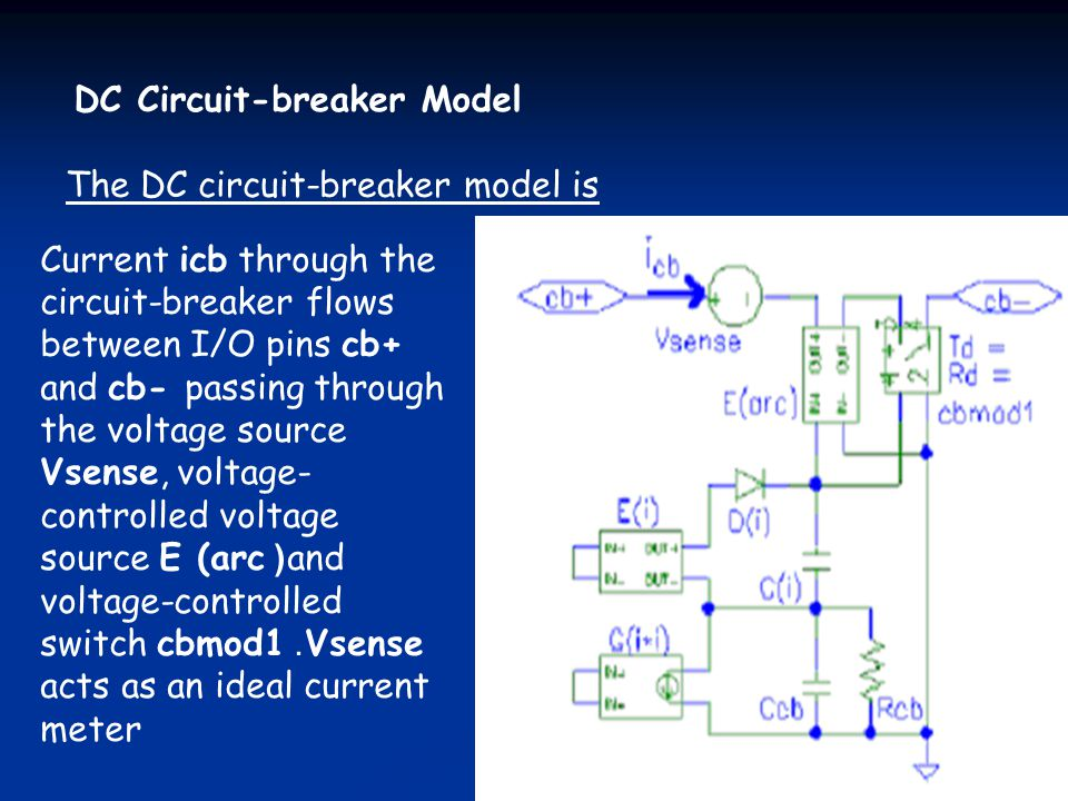 DC Circuit-breaker Model