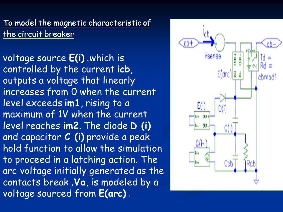To model the magnetic characteristic of the circuit breaker