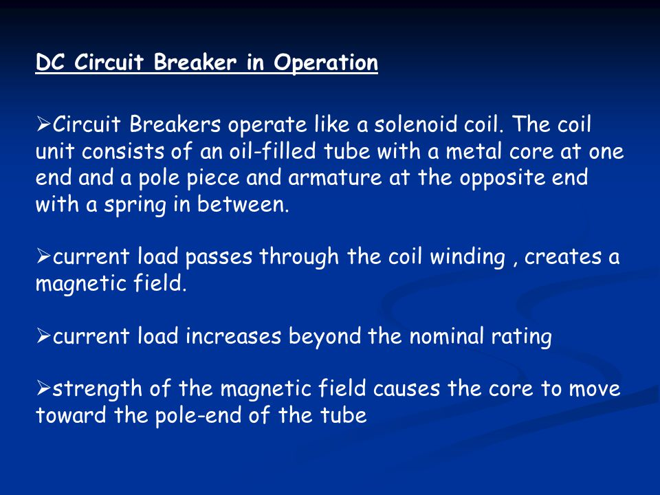 DC Circuit Breaker in Operation