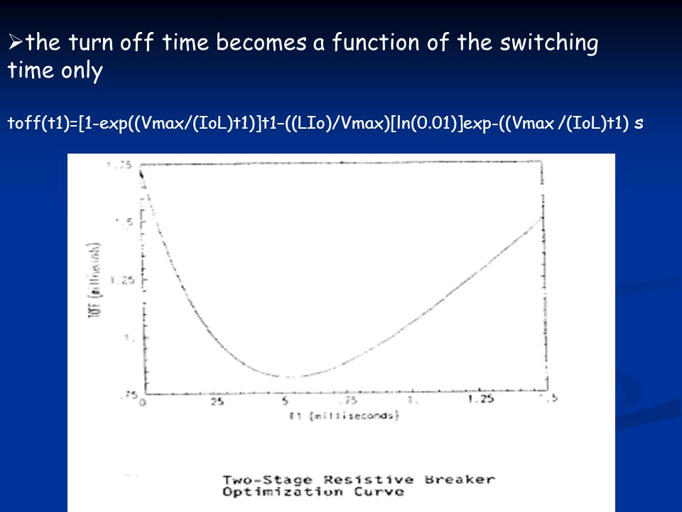 the turn off time becomes a function of the switching time only