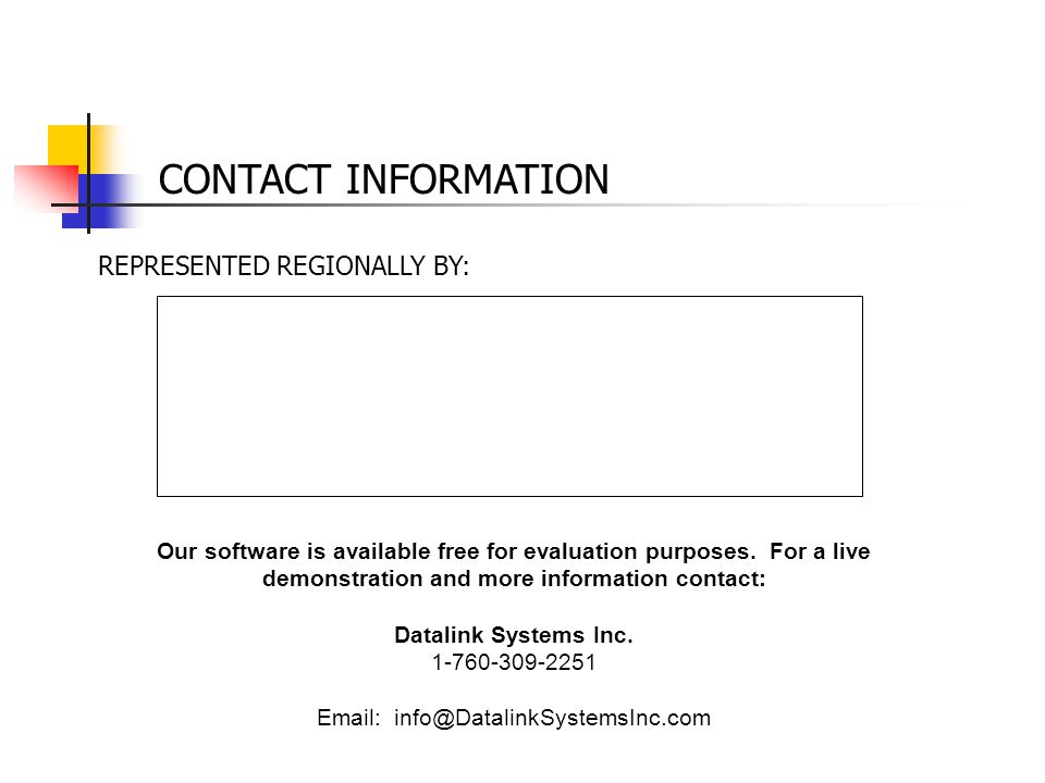 CONTACT INFORMATION REPRESENTED REGIONALLY BY: