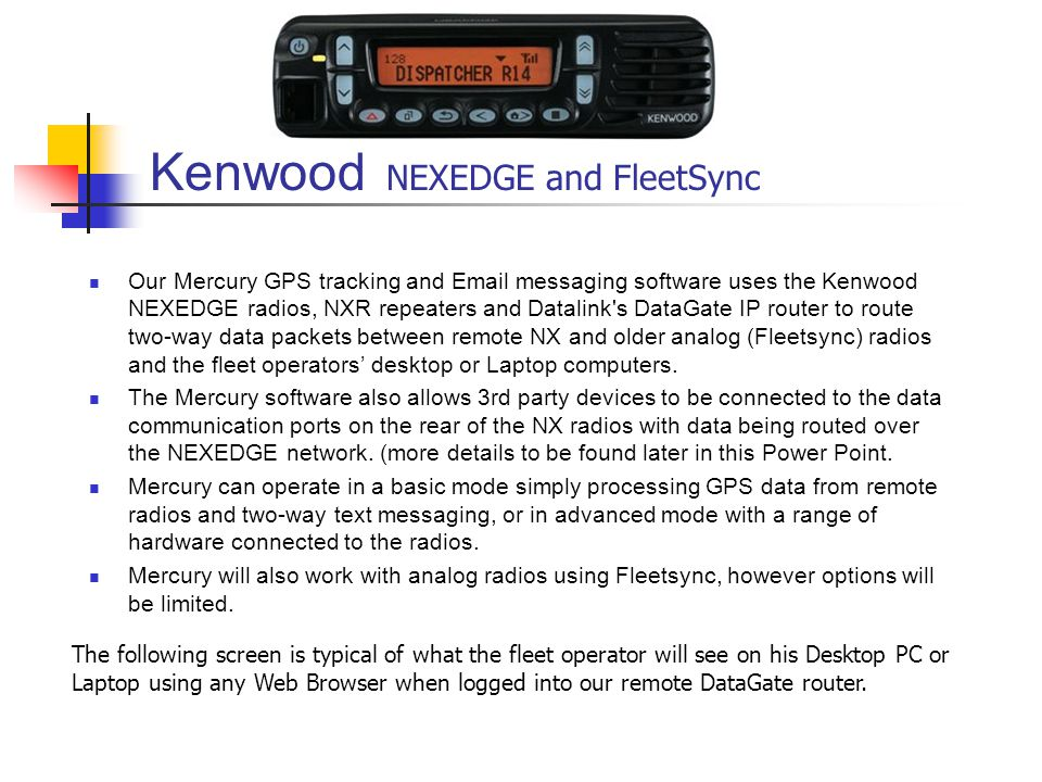 Kenwood NEXEDGE and FleetSync