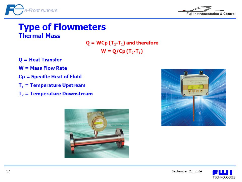Type of Flowmeters Thermal Mass