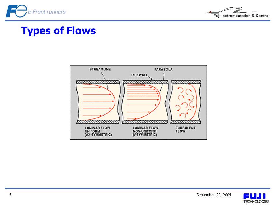 Types of Flows September 23, 2004