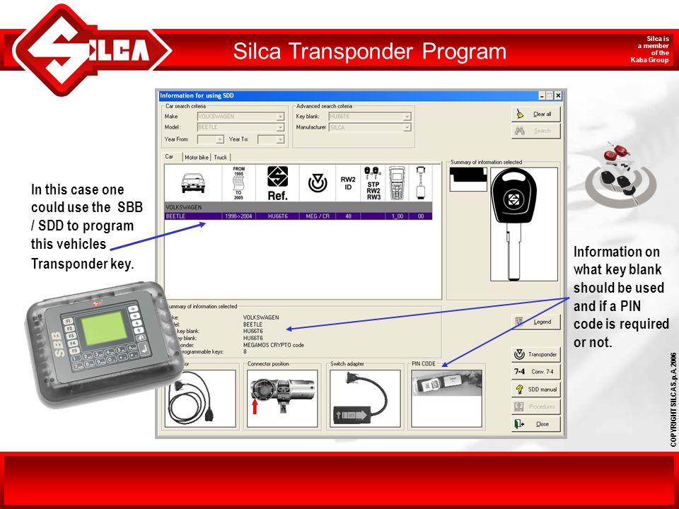 Silca Transponder Program