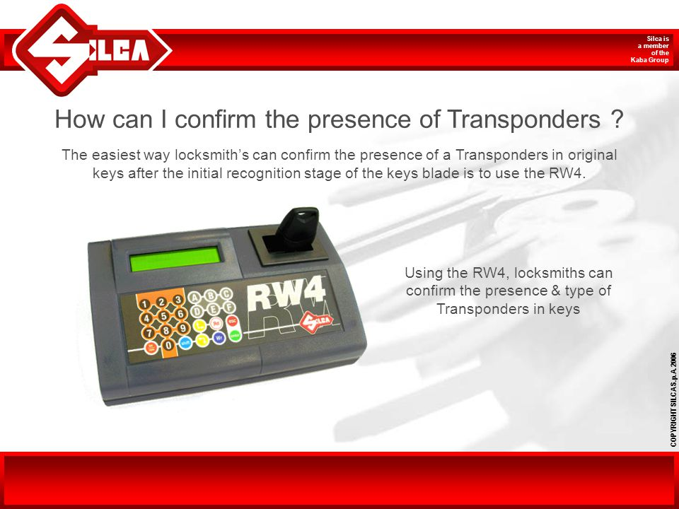 How can I confirm the presence of Transponders