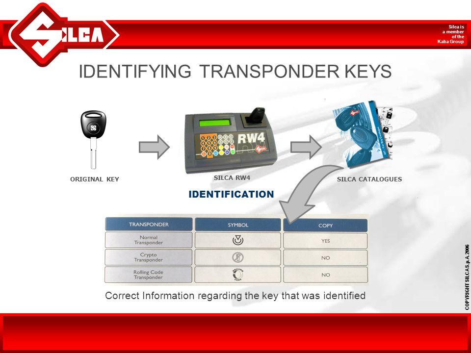 IDENTIFYING TRANSPONDER KEYS