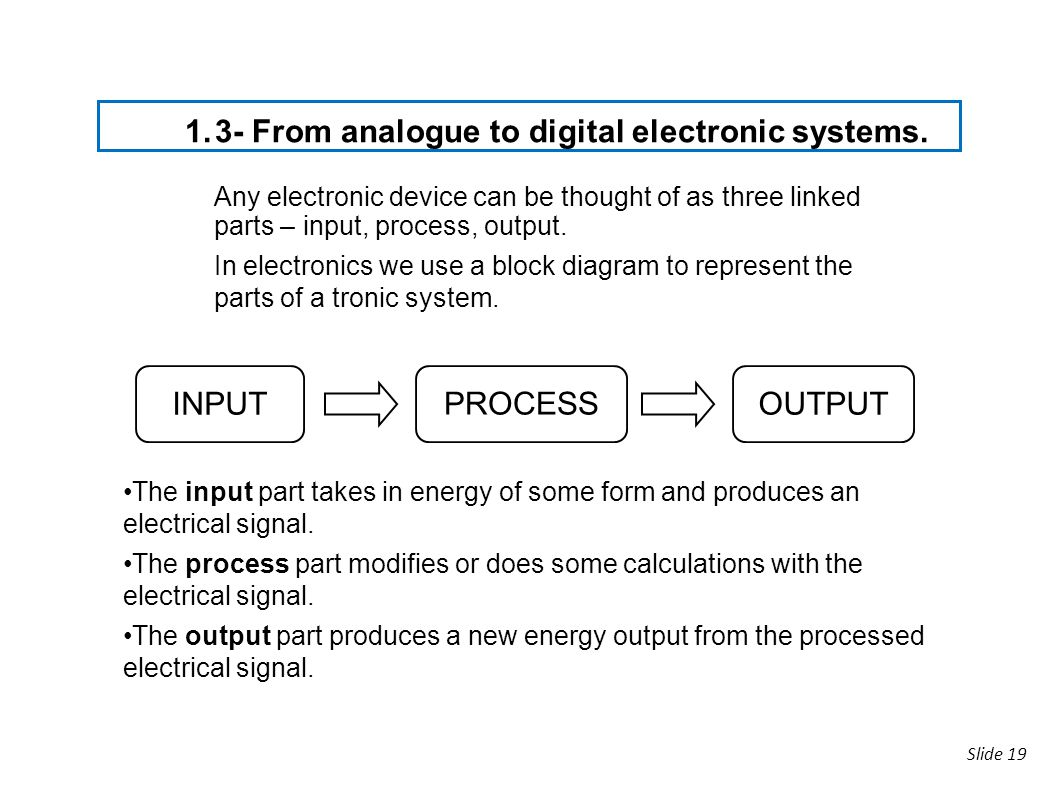 3- From analogue to digital electronic systems.