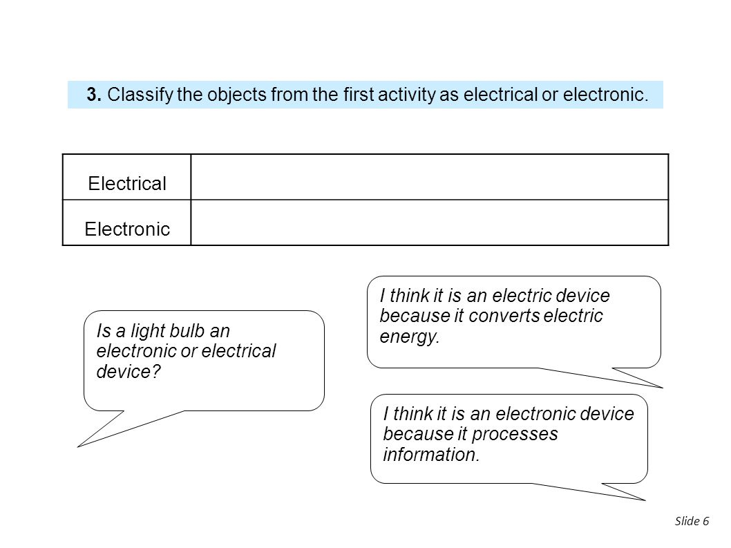 Electrical Electronic