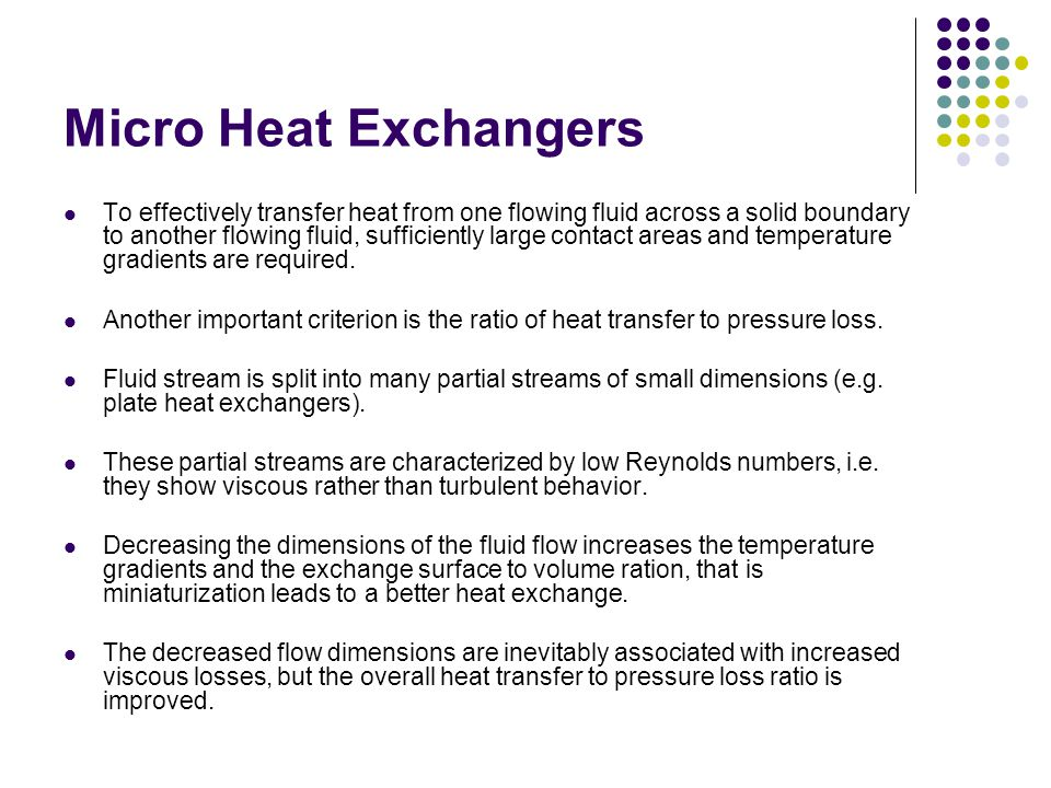 Micro Heat Exchangers