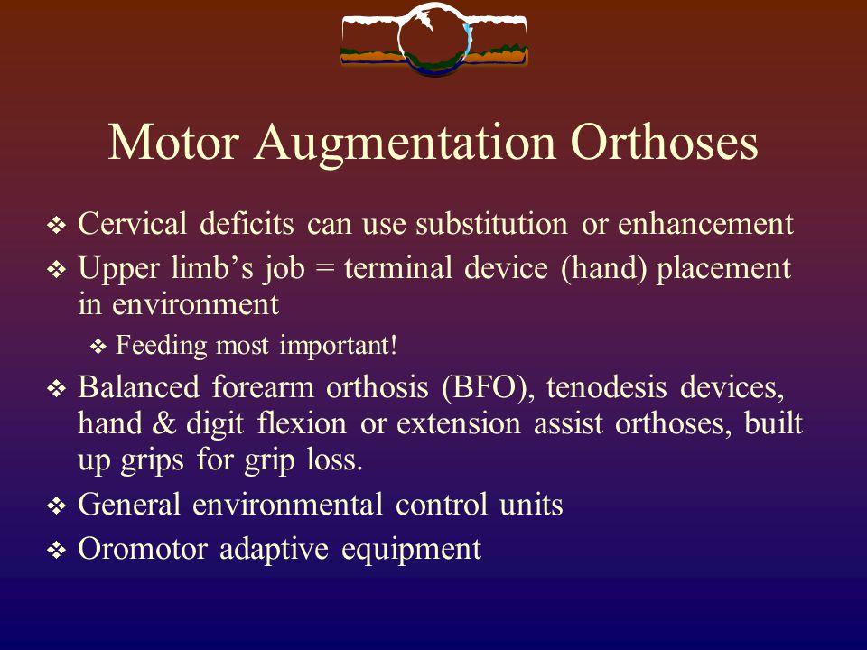 Motor Augmentation Orthoses