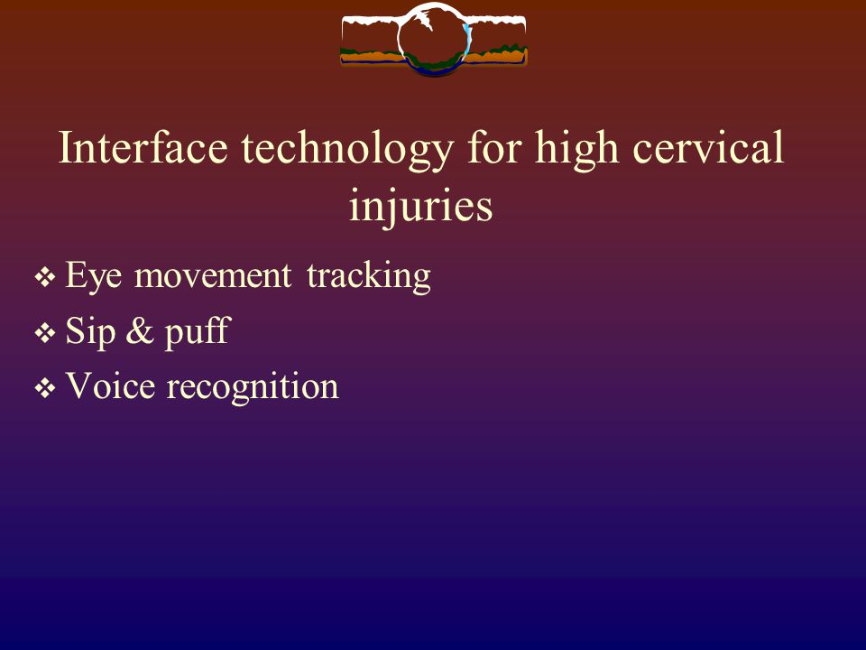 Interface technology for high cervical injuries