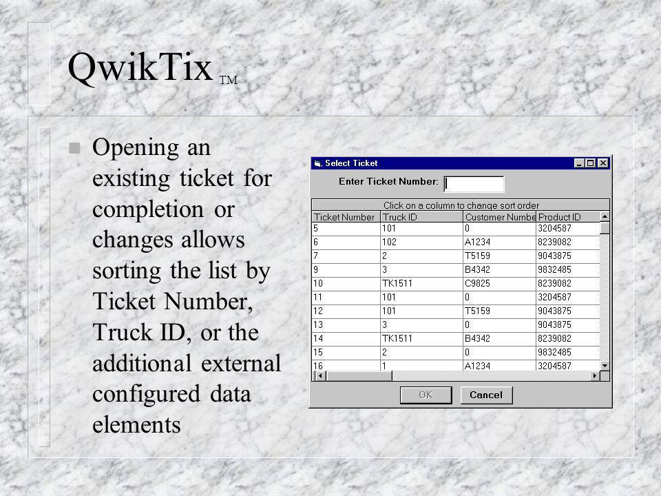 QwikTix TM