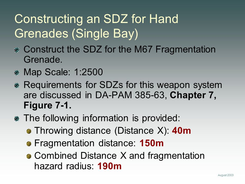 Constructing an SDZ for Hand Grenades (Single Bay)