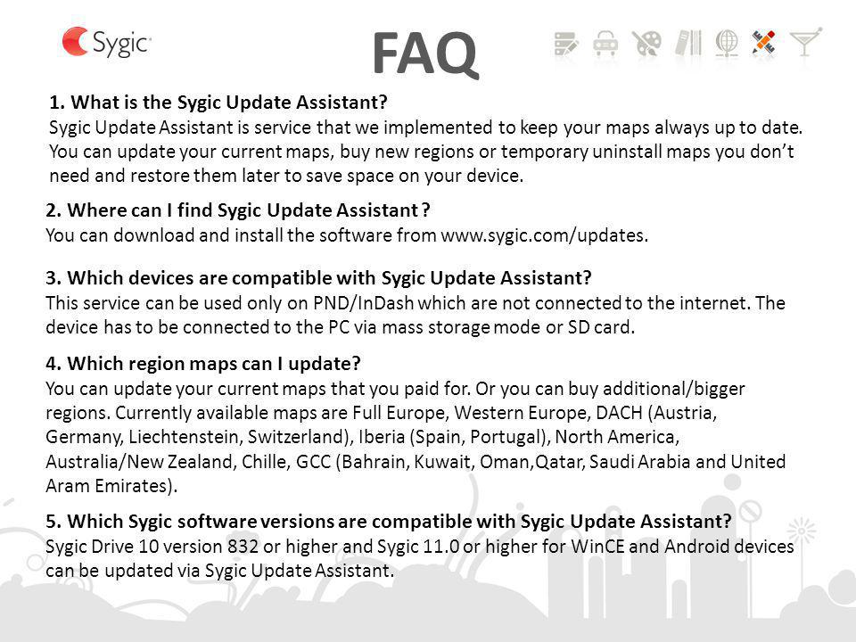 FAQ 1. What is the Sygic Update Assistant