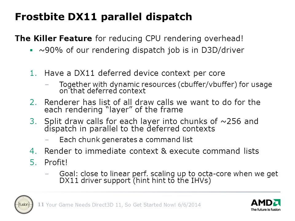 Frostbite DX11 parallel dispatch
