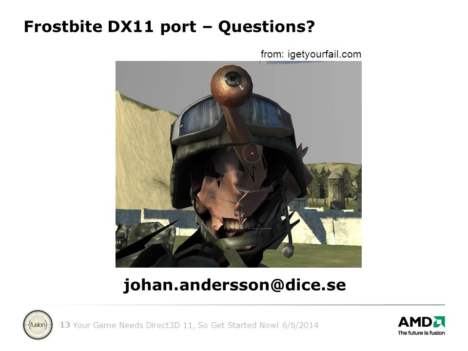Frostbite DX11 port – Questions