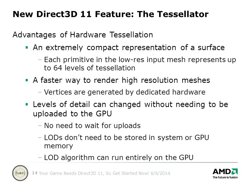 New Direct3D 11 Feature: The Tessellator