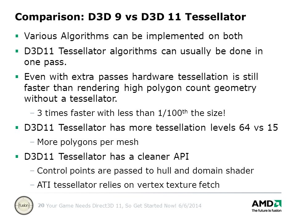 Comparison: D3D 9 vs D3D 11 Tessellator