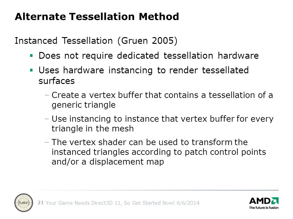 Alternate Tessellation Method