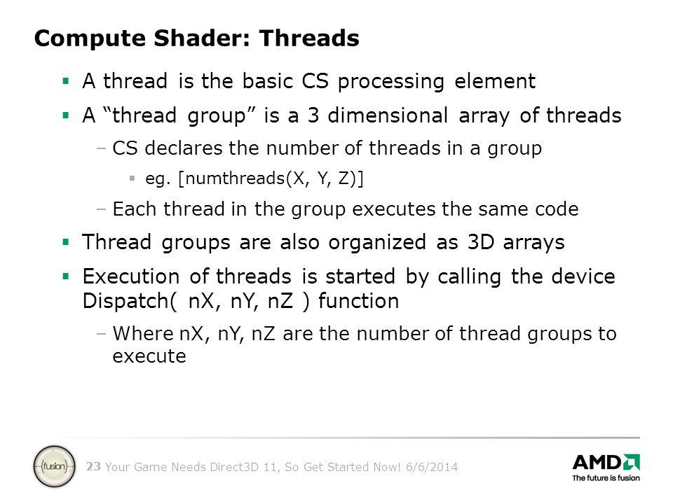 Compute Shader: Threads