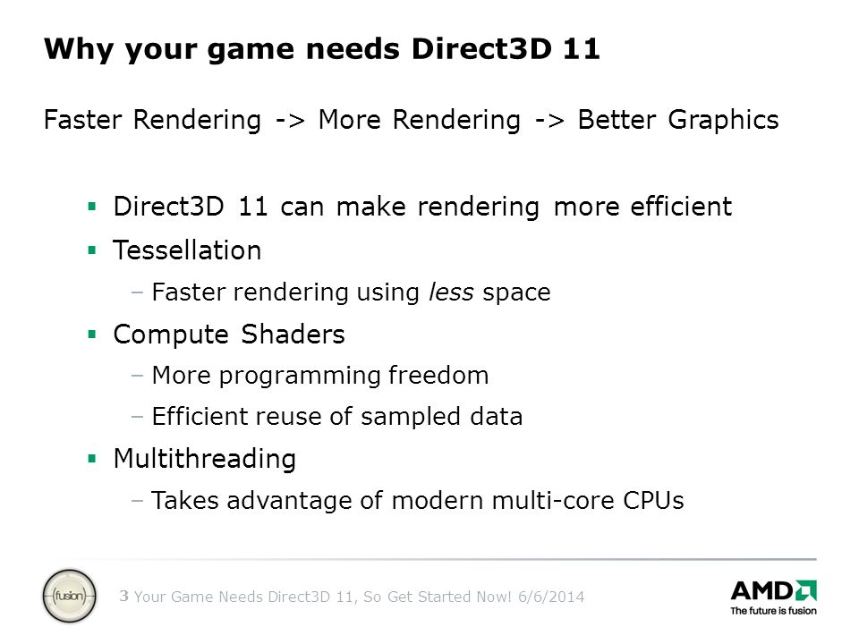 Why your game needs Direct3D 11