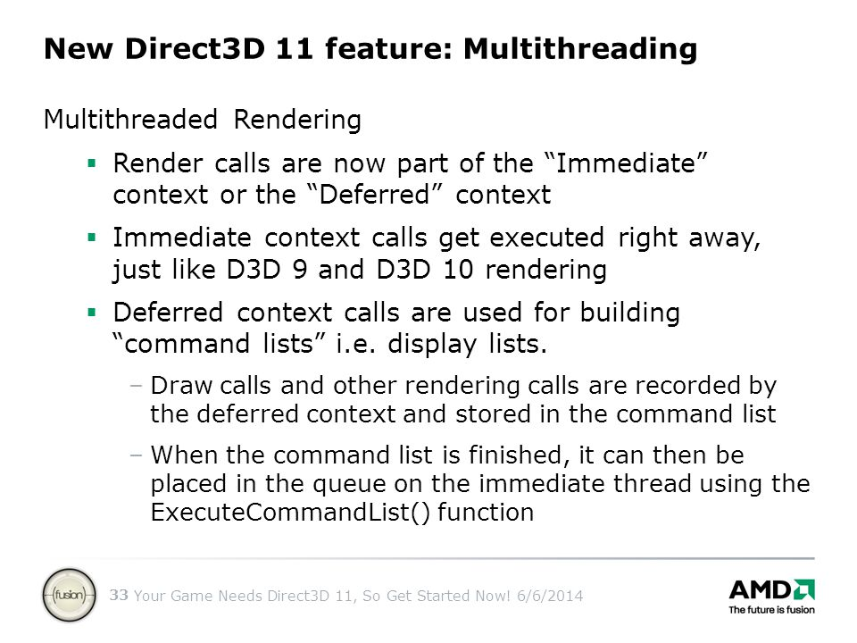New Direct3D 11 feature: Multithreading