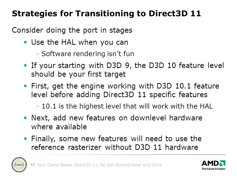 Strategies for Transitioning to Direct3D 11