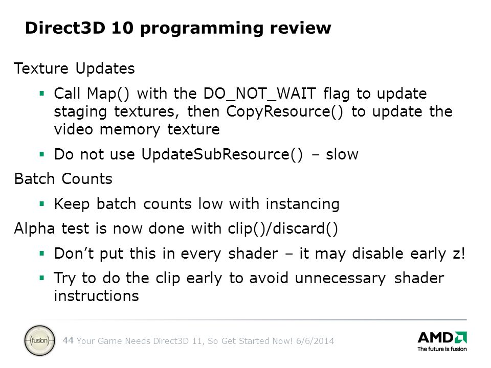 Direct3D 10 programming review