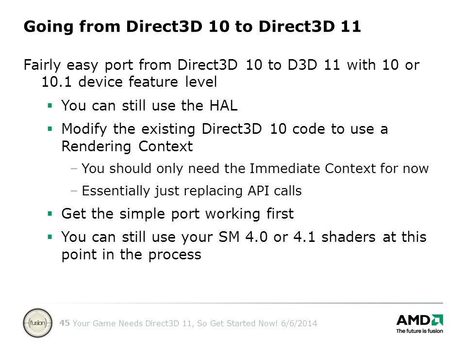 Going from Direct3D 10 to Direct3D 11