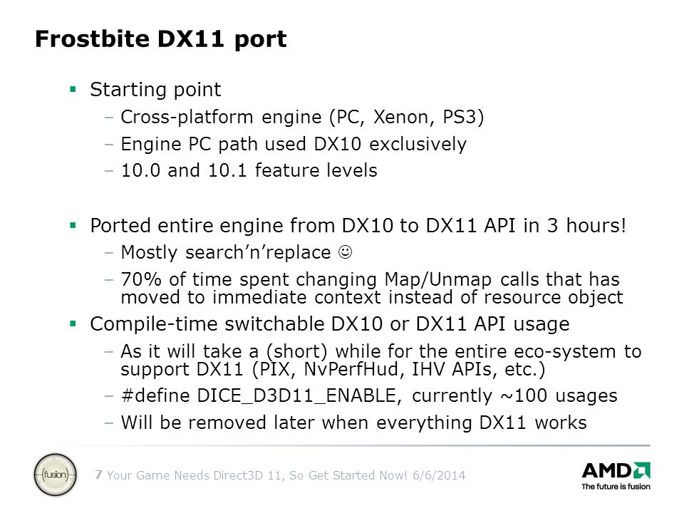 Frostbite DX11 port Starting point