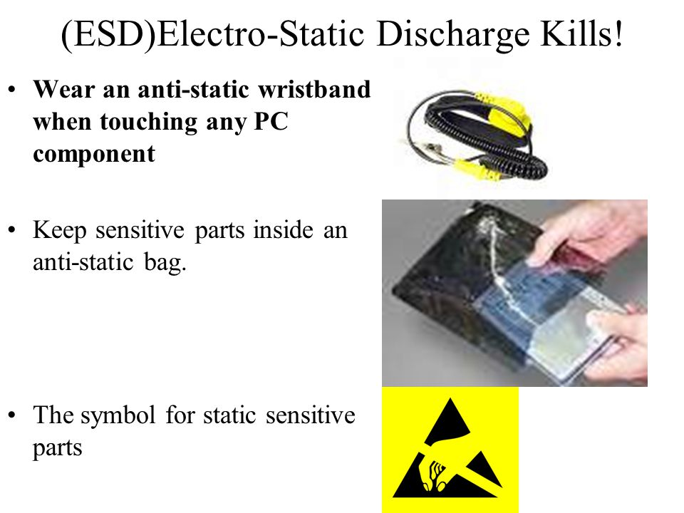 (ESD)Electro-Static Discharge Kills!