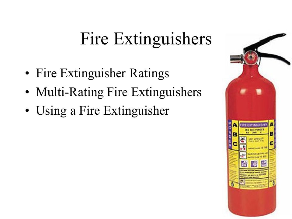 Fire Extinguishers Fire Extinguisher Ratings