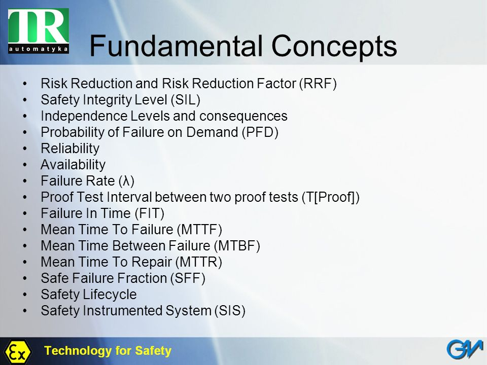 Fundamental Concepts Risk Reduction and Risk Reduction Factor (RRF)