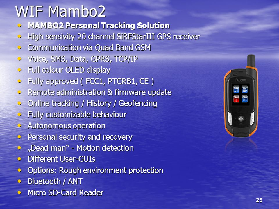 WIF Mambo2 MAMBO2 Personal Tracking Solution