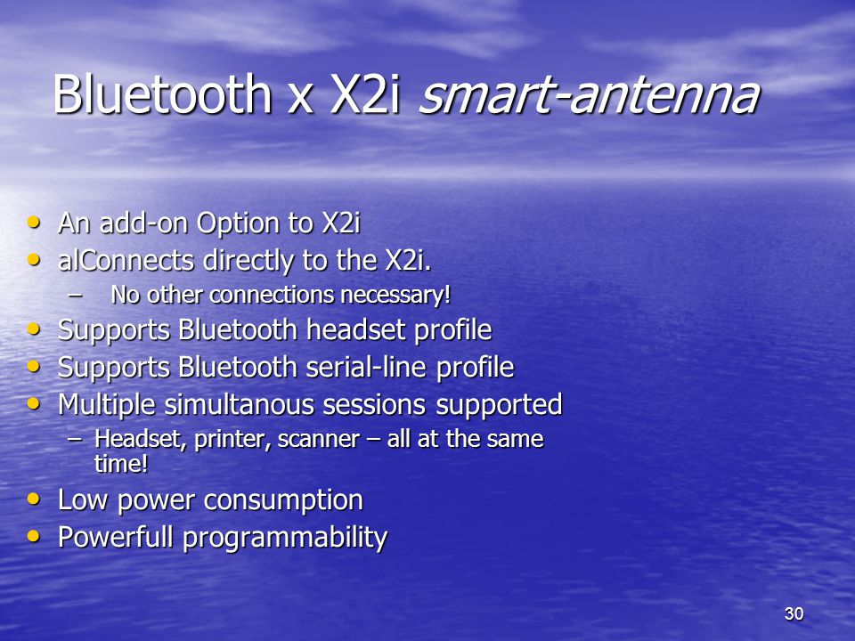 Bluetooth x X2i smart-antenna
